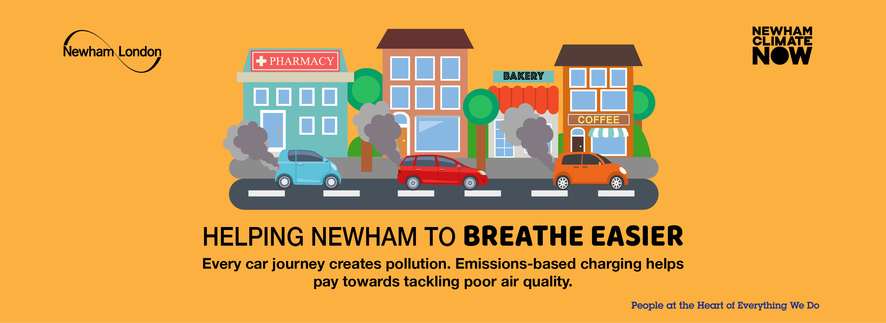 Every car journey creates pollution. Emissions-based charging helps pay towards tackling poor air quality.