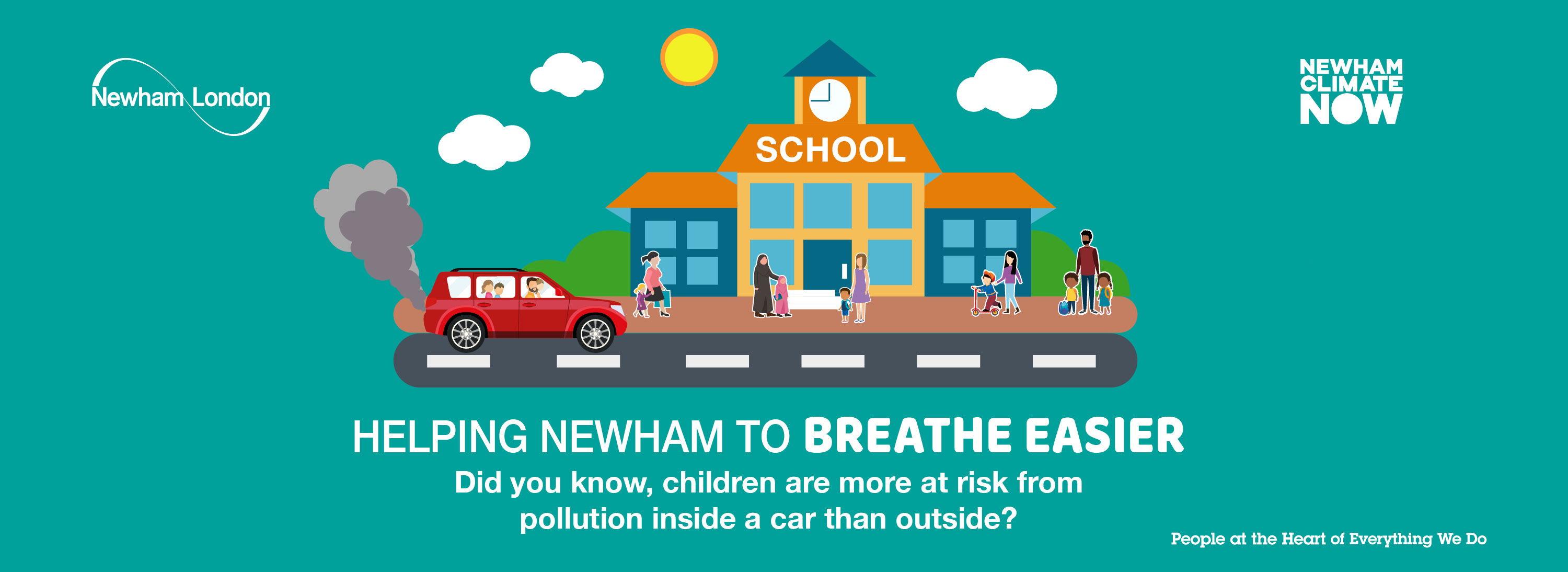 Did you know, children are more at risk from pollution inside a car than outside?