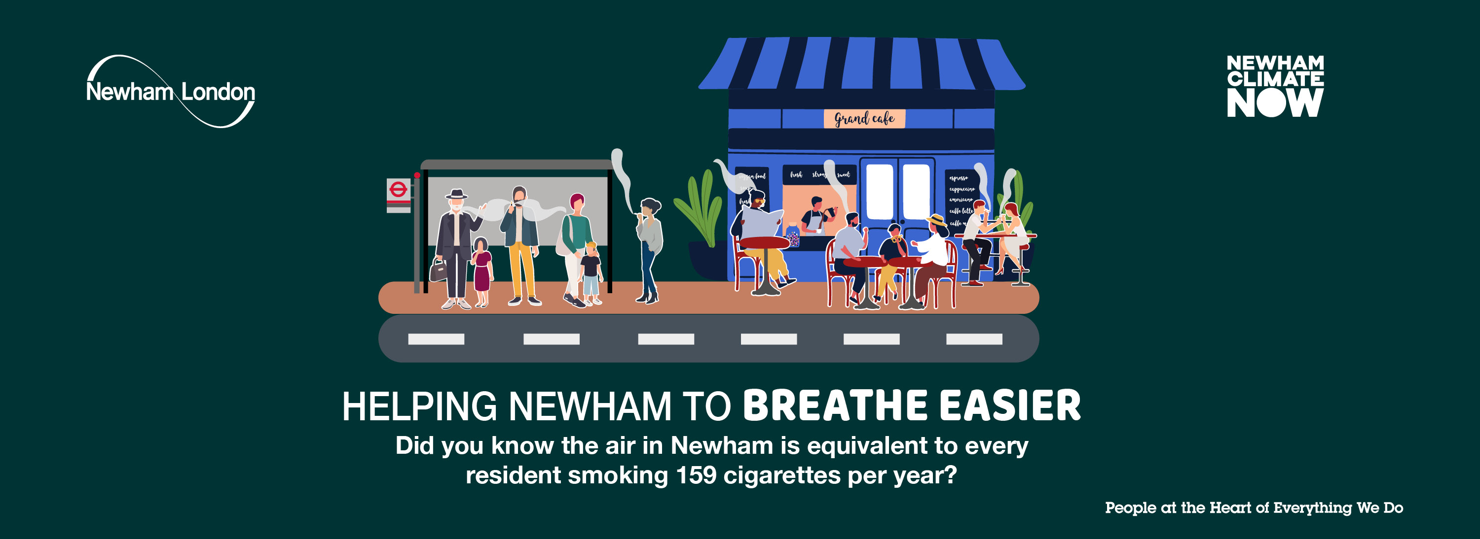 Did you know the air in Newham is equivalent to every resident smoking 159 cigarettes per year?