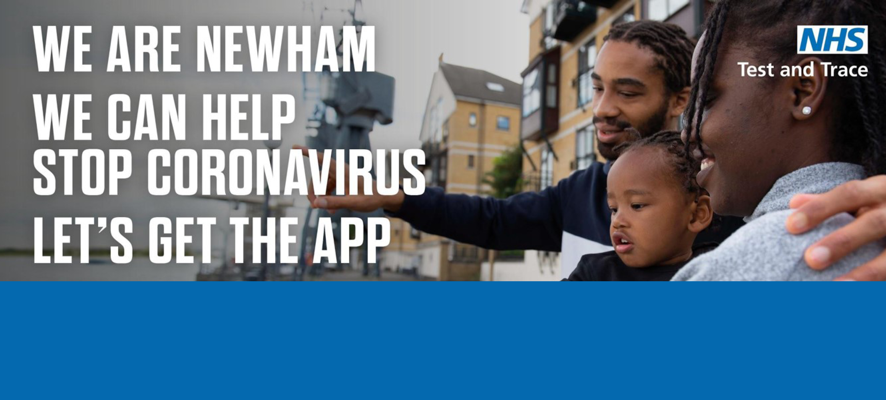 We are Newham. We can help stop Coronavirus. Let's get the app.