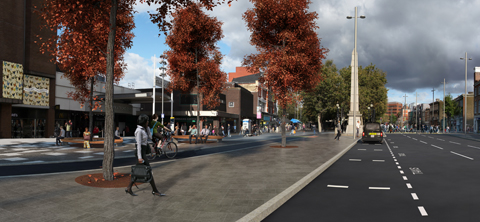 Artist's impression of improvements on Broadway