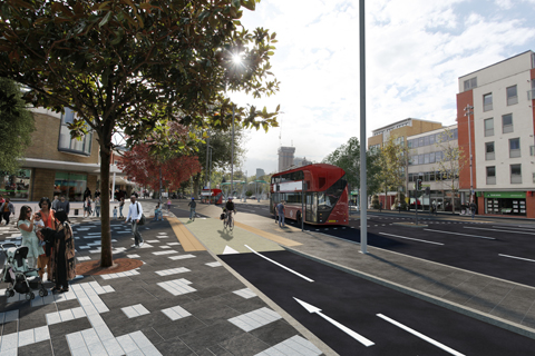 Artist's impression of improvements on The Grove