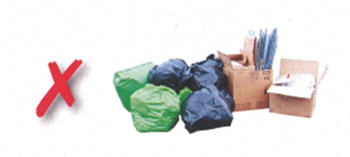 An image showing how not to present your commercial waste